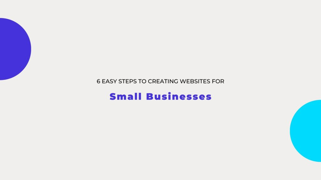 creating websites for small businesses